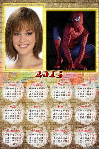 Calendario 2015 de Spiderman